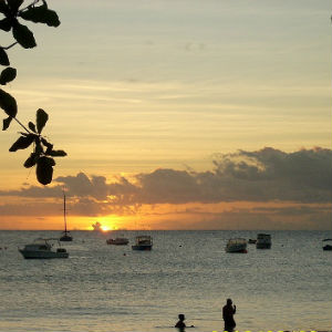Sunset over Carlisle Bay, Barbados From Beach Cottage Porch