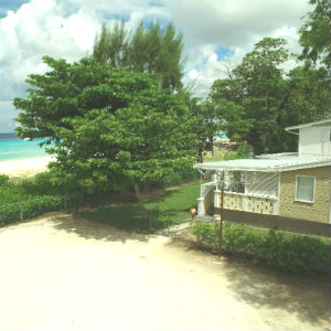 Large Balcony of Barbados Beach Cottage